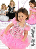 Beads best short dresses - Best sell Cupcake little Kids Outstanding Beaded Organza Toddler Pageant Dress Flower Girl Dresses Ritz9814