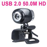 USB 2.0 50.0 M Webcam HD camera Web Cam con MICROFONO Per PC Computer Portatile in Argento & amp; Nero C1744S