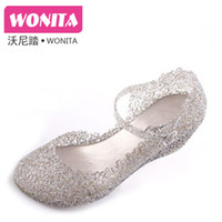 Wholesale Summer bird s nest hole shoes wedges shoes plastic sandals crystal shoes sandals platform toe cap covering sandals female shoes