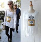 Wholesale free shpping womens Wildfox Couture Love Potion NO Sweater with perfume bottle Sequin casual tops white black