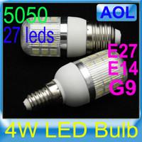 Wholesale 4W SMD LED Corn Light Bulb Lamp G9 E14 E27 V V White Warm White
