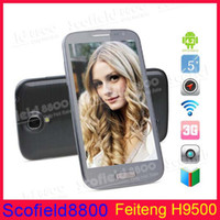 Feiteng 5.0 Android4.2.1 Feiteng S4 I9500 H9500+ 5.0 Inch IPS HD Android Cell Phone MTK6589 1GB RAM 4G 8G ROM 12.6MP Camera Android 4.2.1