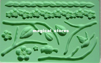 Wholesale Fondant tool flower shape baking mold silicone embossing die sugar Arts flower