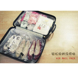 Wholesale 14 Space Saver Travel Plastic Bag Case Storage Organizer air mail Pack set