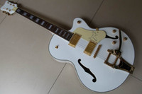 Wholesale New Arrival white Falcon Hollow Electric Guitar Jazz Guitar withBigbys eagle OEM Musical instruments