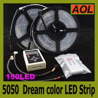 Wholesale Magic Dream color RGB SMD flash LED Strip Lighrt LED led m Waterproof changes Addressable IC RF Controller m