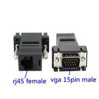 achat en gros de les commutateurs de réseau informatique-VGA Extender Mâle au réseau CAT5 RJ45 Câble Réseau Ethernet Femelle Adaptateur Ordinateur de l'Interrupteur Supplémentaire Kit Convertisseur