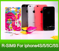 Wholesale RSIM C unlock sim official IOS IOS7 R Sim AUTO Unlock for iPhone5s c s DOCOMO AU Sprint Verizon T MOBILE R SIM