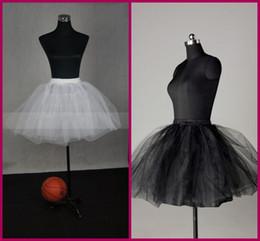 Wholesale New Arrival Modern Designed White Black Polyester Wedding Bridal Flower Girl Hoop Crinoline Detachable Slips Underskirt Short Petticoat YC