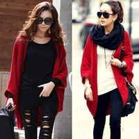 Wholesale A141 women new fashion korea black red knitted thin wool knitted capes ladies autumn loose cardigans sweaters drop ship