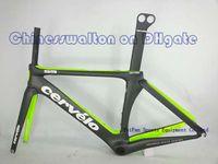 Wholesale Cervelo S5 full carbon fiber road bike frame frameset bicycle bike S5 VWD TEAM customized color black green cycling frame