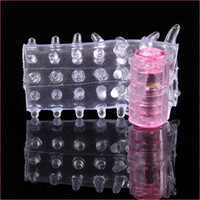 Plastic   OEM Sample Sex Cock Ring Soft Caterpillar Shape Bump Vibrating Sleeve Penis Ring Sex Toys Adult Products XQ-018