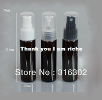 Wholesale ml refillable plastic black bottle oz pet mist spray bottle black plastic bottle colored plastic container