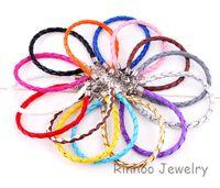 Wholesale Mix Colors Leather Bracelet Fashion PU Bracelet Line cm cm Diy Bracelet