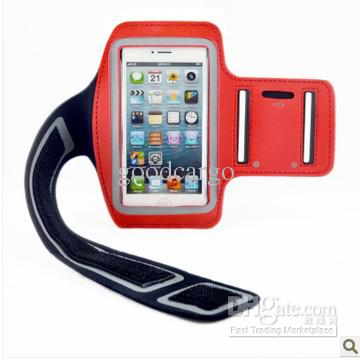 Buy 2WaterProof Material Sport Gym Running Armband Protector Soft Pouch Case Cover iphone 5C 5S 5 5G 4 4S Samsung Galaxy S4 S3 Note 3