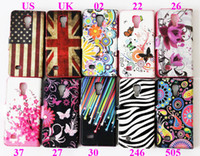 For Samsung i9195 - Plum Flower UK US Flag Butterfly Meteor Star Zebra Card Slot Stand Wallet Leather Case Cover For Samsung Galaxy S4 Mini I9190 I9192 I9195