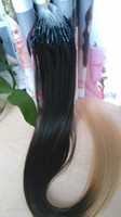 blend straight 0.5g Ombre hair extension brazilian micro ring hair extension 1b 613 t color 0.5g pcs