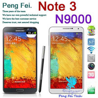 Wholesale 1 HDC N9000 Note Note3 MTK6589 Quad core phone quot PS G WCDMA Air Gesture Eye control
