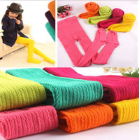 Wholesale 6 New arrivals Baby girls candy color warm up cotton Autumn Winter spring Pantyhose leggings pants years old