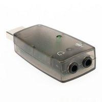 Wholesale US Stock Mini USB Sound Adapter Card External Audio D Virtual mm Jack Plug Digital Class B power amplifier Sound Card