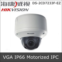 Cheap Hikvision DS-2CD7233F-EZ 1 4 progressive scan CMOS Vandal-proof IR IP CCTV Camera VGA (640 x 480) resolution Motorized V F lens