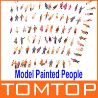 Wholesale 100pcs N Scale Mix Painted Model Train Park Street Passenger People Figures Freeshipping T177
