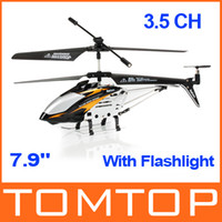Wholesale Black quot Mini CH Ultralight Infrared RC Helicopter With Gyro Light Kids Toy Gift RM314B