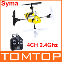 Wholesale Syma X1 Bumblebee RC Helicopter CH Ghz Degree Eversion LCD Display Gyro freeshipping RM299