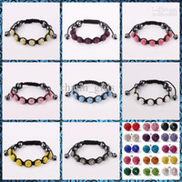 Wholesale NEW Fashion mm shamballa Crystal Pave Disco Ball Bracelet Friendship Charm Bracelet Gift Cheap