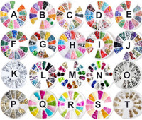 Wholesale NEWEST styles Wheel Mixed Nail Art Tips Glitters Crystal Slice Decoration Manicure F199 F203 M