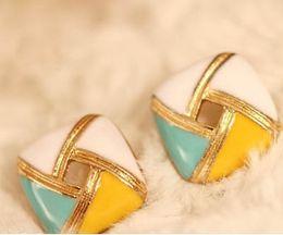 Retro Square Earrings diamond stud earring charm jewelry wedding ornament earring 2 colors free shipping