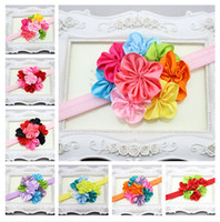Hair Sticks baby girl items - Fashion baby girl colorful ribbon flower headbands hair bands Children s Hair Accessories jewelry Photography props colors Christmas items