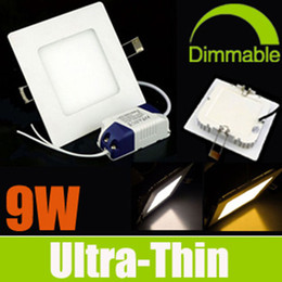 Wholesale Comprar obtener Free Dimmable Square LED W LED luces de techo SMD2835 Ángulo AC110 V empotrado Lámparas Cool Warm Nature Blanco