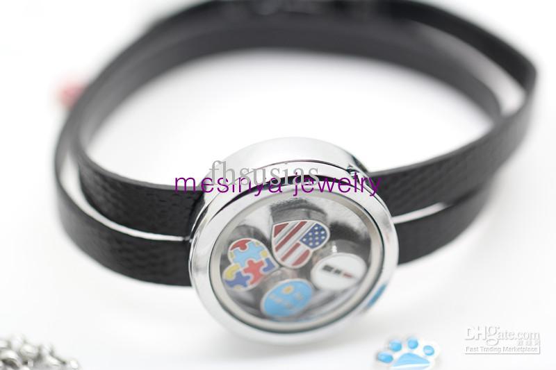 Glass Charm Bracelets Glass Locket Bracelet Xmas