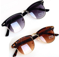 Wholesale 6X Fashion Unisex HOT Classic Retro Avaitor Golden Mirrored Sunglasses Glasses New All Match JA04002