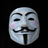 Wholesale 50pcs V for Vendetta Mask Guy Fawkes Halloween Party Face Mask Costume Mask By freeship