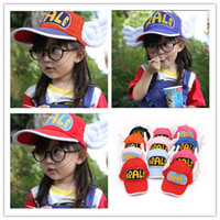 Wholesale 15 colors Arale Adjustable Angel Wings Anime Cap Hat for year Children Baby Boys Girls Sun Hat Kids Sunbonnet Summer Cap CAP8