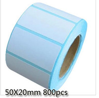 Wholesale Thermal Paper x20 bar code paper thermal adhesive label paper mm thermal label machine printing paper