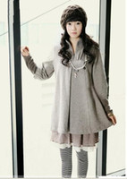 Wholesale New arrive Maternity autumn winter fashion new Korean version sleeve two piece clothes dress coat jacket