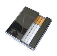 Rectangular rechargeable  Heating wire metal usb plug-in windproof lighter cigarette case 10 only to automatically play smoke a cigarette