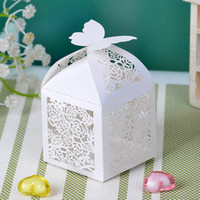 Wholesale Cubiod Floral Theme Cut out Favor Box