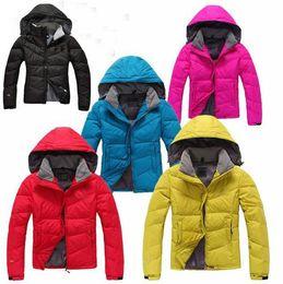 Wholesale 2014 HOT Women s Fashion outdoor Down Coat Jacket Detachable cap Pure luxury Hooded Down Hoodies Outerwear