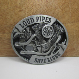 Wholesale BuckleHome Loud pipes belt buckle FP with pewter finish plating