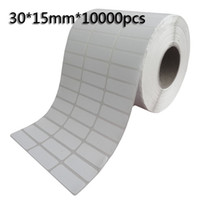 Wholesale 30 mm Thermal transfer blank barcode Labels art paper adhesive printed label sticker