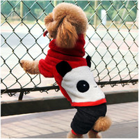 Wholesale Happy Panda turned clothing Pet autumn winter clothing Teddy Poodle four legs dog clothes XS S M L XL