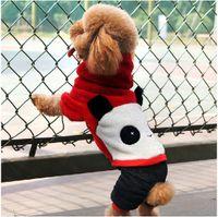 Wholesale Happy Panda turned clothing Pet autumn winter clothing Teddy Poodle four legs dog clothes XS S M L XL