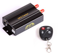 Wholesale Hot TK103B remote control tracking Car GPS tracker TK103B Web Free PC GPS Monitor system Quad band SD card GPS