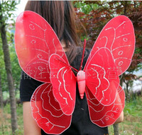 Wholesale factory outlet double butterfly wings three piece butterfly wings angel wings