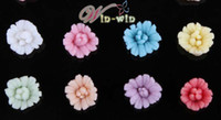 Wholesale new floating charms ceramic metal flowers for crafts fit charm lockets floating charms flower pendant large