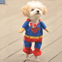 Wholesale Pet Costumes Dog Clothes Superman cloak Size XS S M L XL free ship WY136 p